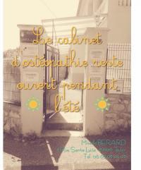 Votre ostéopathe à Toulon vous accueille durant les vacances d'été !
